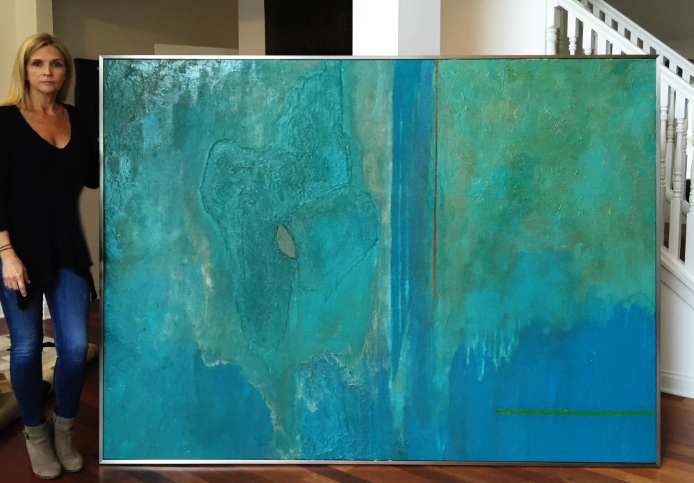 Necker Island Painting By Angela Gebhardt